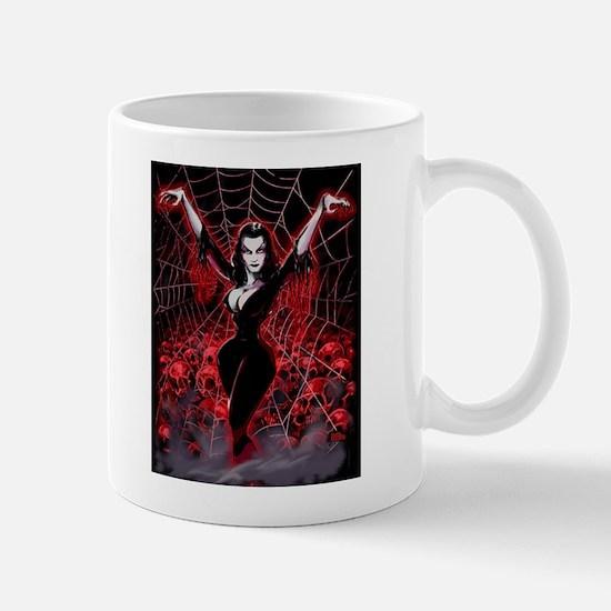 Vampira Spider Web Gothic Mug