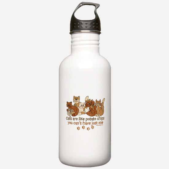 Cute Crazy cat lady Water Bottle