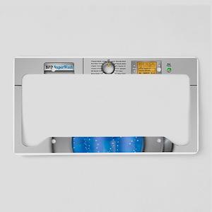 Washing Machine License Plate Holder