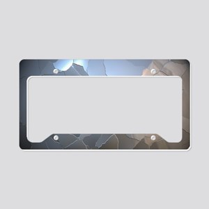 Cracked Pearl License Plate Holder