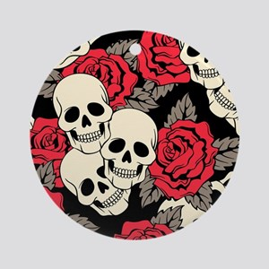 Flowers and Skulls Ornament (Round)