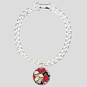 Flowers and Skulls Bracelet