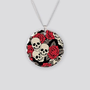 Flowers and Skulls Necklace