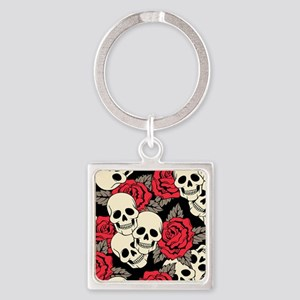 Flowers and Skulls Keychains