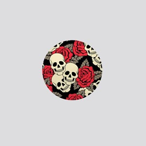 Flowers and Skulls Mini Button