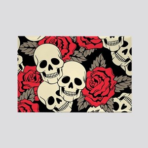 Flowers and Skulls Magnets