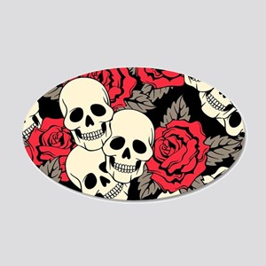 Flowers and Skulls Wall Decal