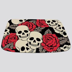 Flowers and Skulls Bathmat