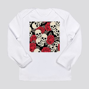 Flowers and Skulls Long Sleeve T-Shirt