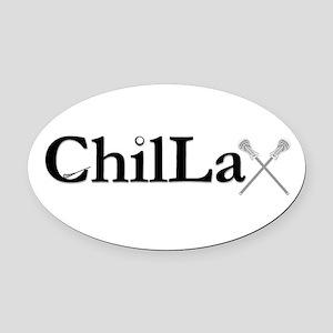 ChilLax Oval Car Magnet