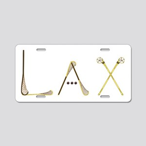 Lax Traditional Aluminum License Plate