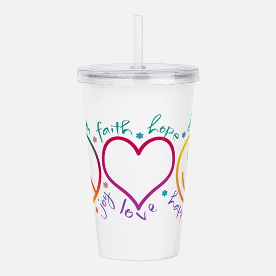 Cute Peace Acrylic Double-wall Tumbler