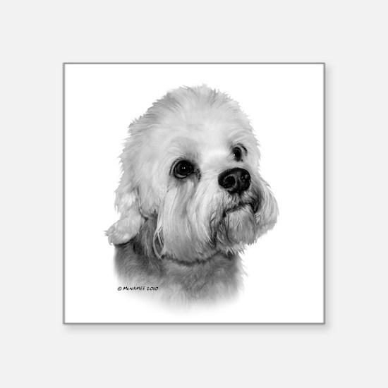"""Dandie Dinmont Terrier Square Sticker 3"""" x 3"""""""