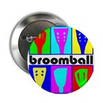 Broomball Heads Button