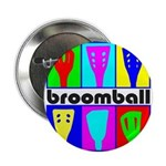 "Broomball Heads 2.25"" Button (10 pack)"