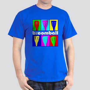 Broomball Heads Dark T-Shirt
