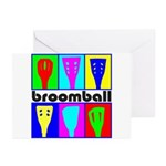 Broomball Heads Greeting Cards (Pk of 10)