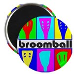 "Broomball Heads 2.25"" Magnet (100 pack)"