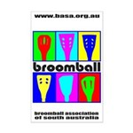 Broomball Heads Mini Poster Print