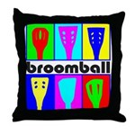 Broomball Heads Throw Pillow
