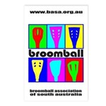 Broomball Heads Postcards (Package of 8)