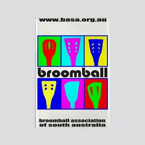 Broomball Heads Rectangle Magnet