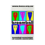Broomball Heads Rectangle Magnet (10 pack)