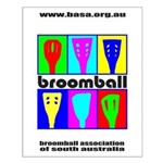 Broomball Heads Small Poster