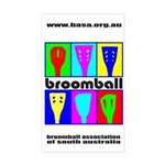 Broomball Heads Rectangle Sticker