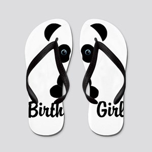 Birthday Girl Panda Bear Flip Flops