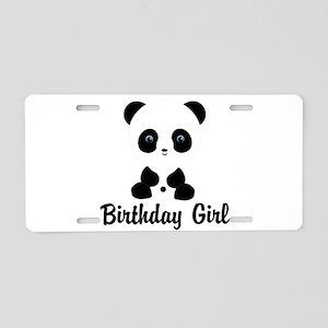 Birthday Girl Panda Bear Aluminum License Plate