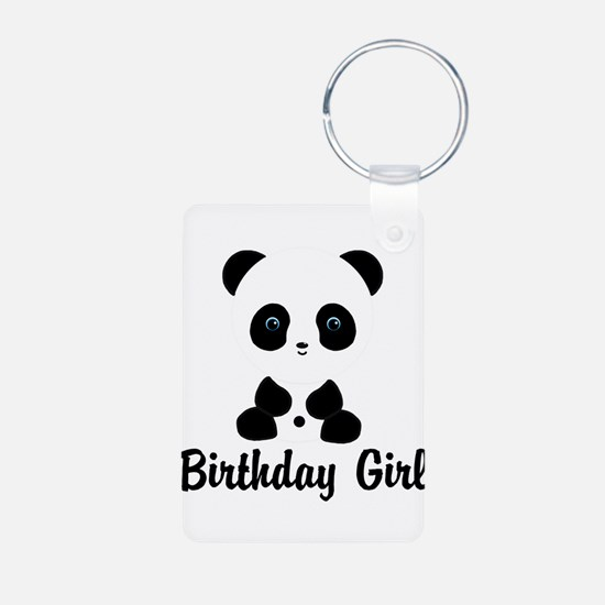 Birthday Girl Panda Bear Keychains