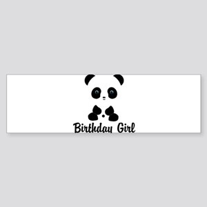 Birthday Girl Panda Bear Bumper Sticker