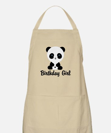 Birthday Girl Panda Bear Apron