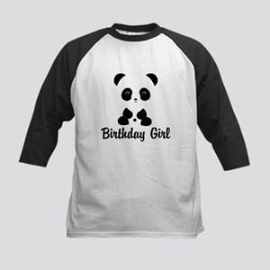 Birthday Girl Panda Bear Baseball Jersey