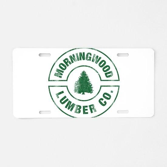 Unique Lumberjack Aluminum License Plate