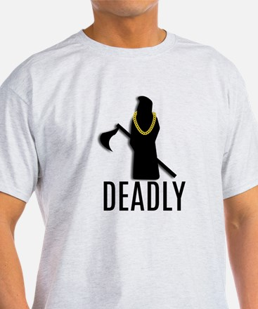 Deadly Reaper Gold Chain T-Shirt