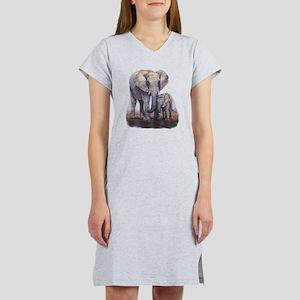 Elephants Mom Baby Women's Nightshirt
