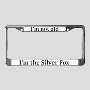 Silver Fox License Plate Frame