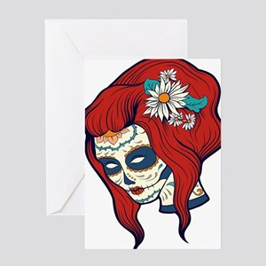 Sugar Skull 4 Greeting Cards