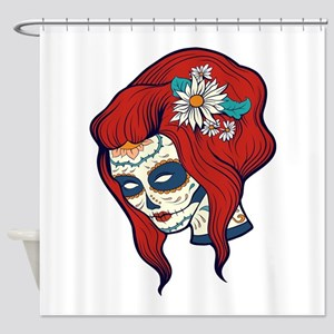 Sugar Skull 4 Shower Curtain