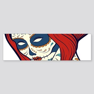 Sugar Skull 4 Bumper Sticker
