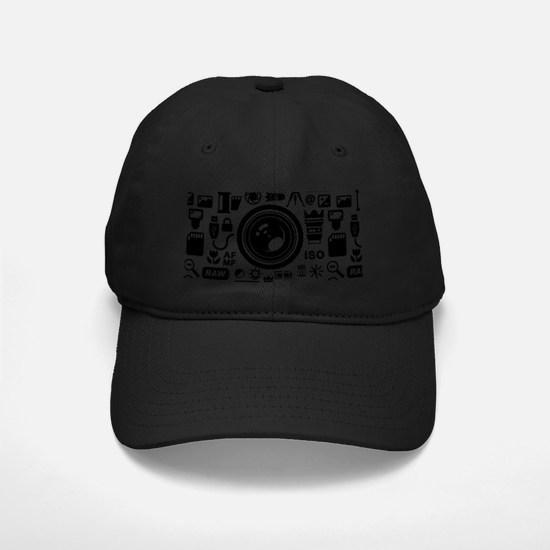 Photographer Icons Set Baseball Hat