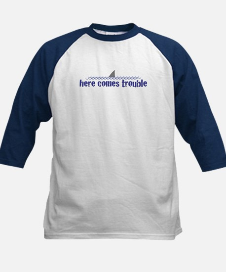 Here comes trouble Kids Baseball Jersey