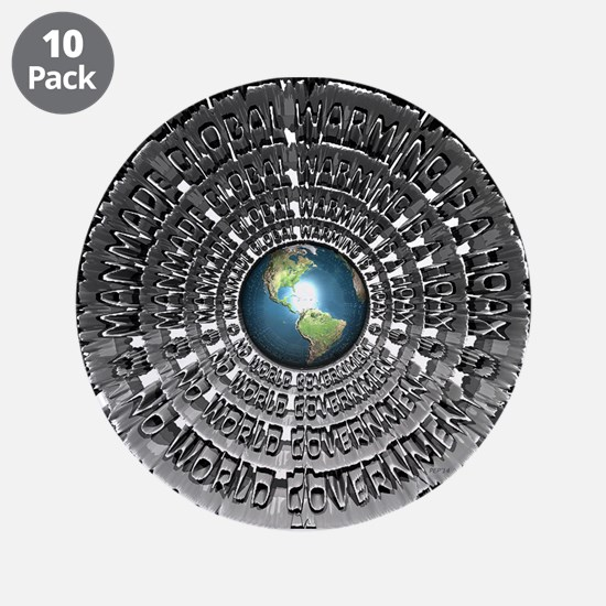 """No World Government 3.5"""" Button (10 pack)"""