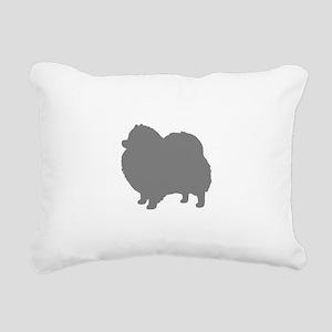 pomeranian gray 1C Rectangular Canvas Pillow