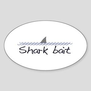 Shark Bait Oval Sticker