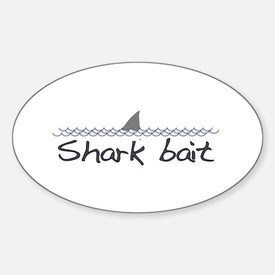 Shark Bait Oval Decal