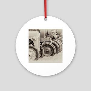 Vintage Tractors Round Ornament