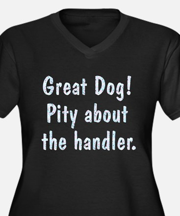 Pity About the Handler Women's Plus Size V-Neck Da
